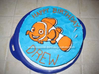 Homemade Nemo Birthday Cake