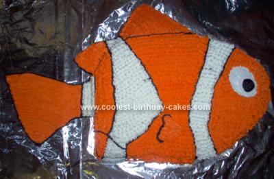 Homemade  Nemo Birthday Cake