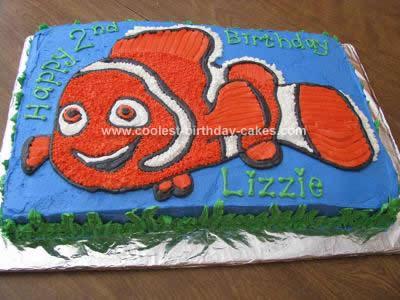 Homemade Nemo Birthday Cake Idea