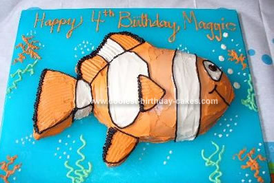Homemade Nemo Cake
