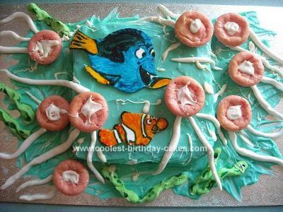 Homemade Nemo Jellyfish Cake