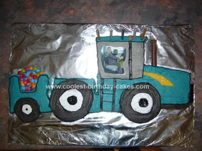 Homemade New Holland Tractor Cake