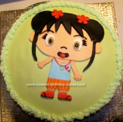 Homemade Ni Hao Kai Lan Marshmallow Fondant Cake