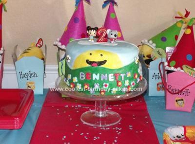 Homemade Ni Hao Kai-Lan Birthday Cake