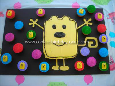 Marvelous Coolest Nick Jr Wow Wow Wubbzy Cake And Cupcakes Funny Birthday Cards Online Alyptdamsfinfo