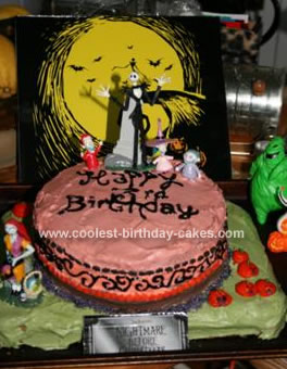 homemade nightmare before christmas birthday cake - Nightmare Before Christmas Birthday Decorations