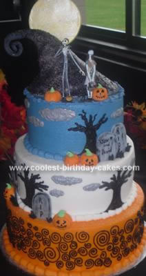 Homemade Nightmare Before Christmas Cake