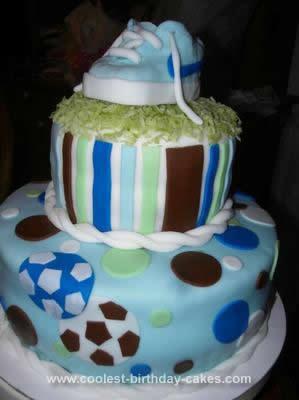 Homemade Nike Soccer Baby Shower Cake