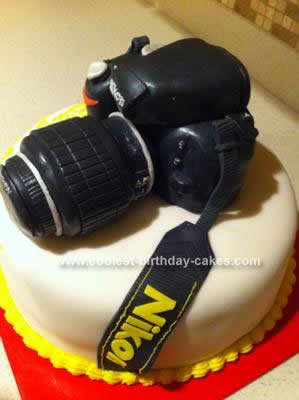 Homemade Nikon Camera Cake