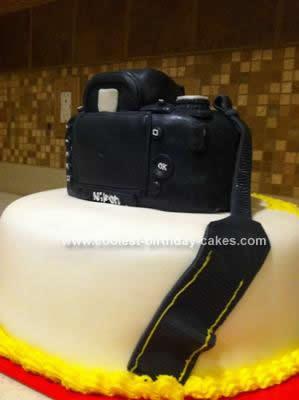 Homemade Nikon Camera Cake
