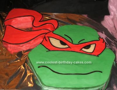 Homemade Ninja Turtles Birthday Cake