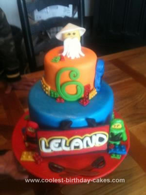 Homemade Ninjago Birthday Cake