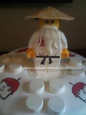 Homemade Ninjago Sensei Wu Lego Cake