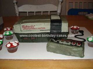 Homemade Nintendo Birthday Cake