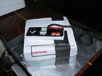 Homemade Nintendo Cake