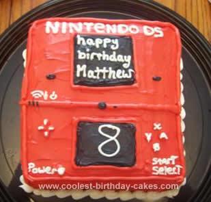 Homemade Nintendo DS Birthday Cake