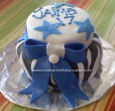 Homemade Nitro Themed Birthday Cake