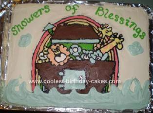 Homemade Noah's Ark Cake