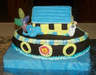 Homemade Noahs Ark Cake
