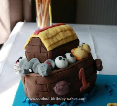 Homemade Noah's Ark Cake