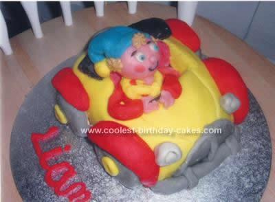 Homemade Noddy Car Birthday Cake
