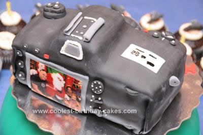 Homemade Nikon D300 Camera Birthday Cake Design