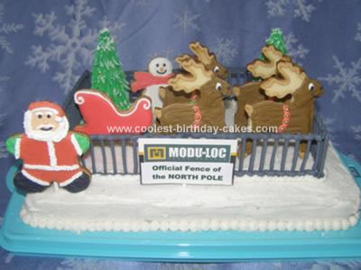 Homemade North Pole Cake