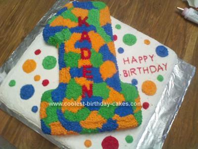 Homemade Number 1 Cake