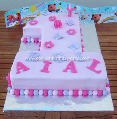 Groovy Coolest Number 1 Girl Birthday Cake Funny Birthday Cards Online Alyptdamsfinfo