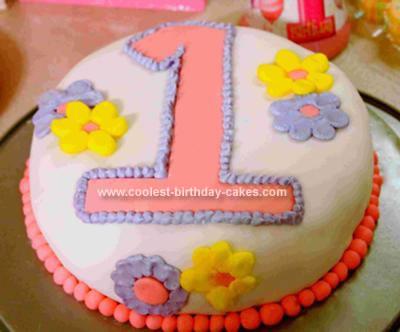 Homemade Number One Birthday Cake