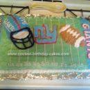 Homemade NY Giants Football Birthday Cake