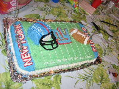 Phenomenal Cool Homemade Ny Giants Football Birthday Cake Funny Birthday Cards Online Inifodamsfinfo