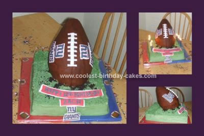Enjoyable Coolest Ny Giants Football Birthday Cake Funny Birthday Cards Online Inifodamsfinfo