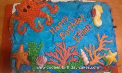 Homemade Ocean Wonderland Cake