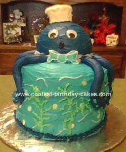 Homemade Octopus Baby Shower Cake