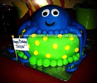 Homemade Octopus Birthday Cake