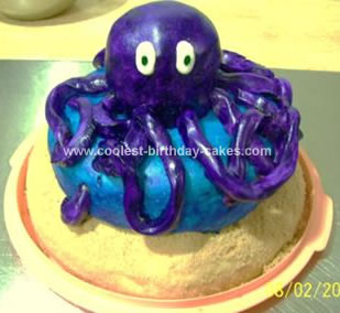 Homemade Octopus Cake
