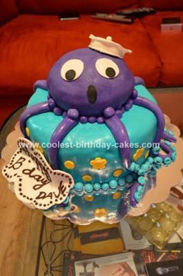 Homemade Octopus Cake