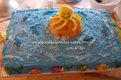 Homemade Octopus Island Birthday Cake
