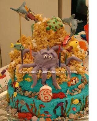 Homemade Octupus Birthday Cake
