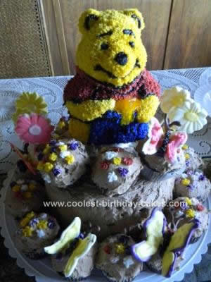 Homemade Off in the Hundres Acre Wood Winnie Cake