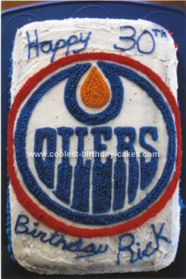 Homemade Oilers Birthday Cake