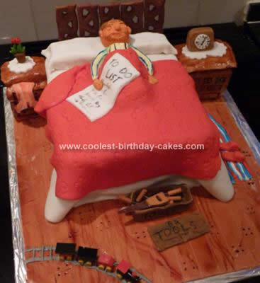 Homemade Old Man in Bed Retirement Cake