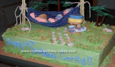 Homemade Old Man Retirement Cake