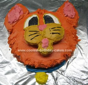 Homemade Oliver Cat Cake