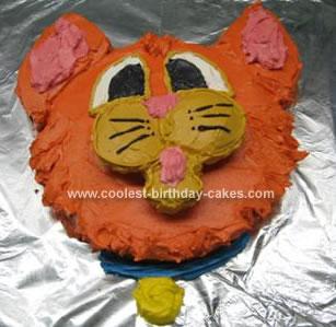 Homemade Oliver Cat Cake
