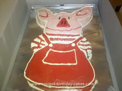 Homemade Olivia Birthday Cake