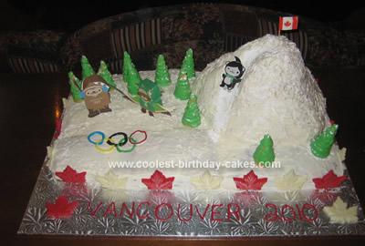 Homemade Olympics Cake