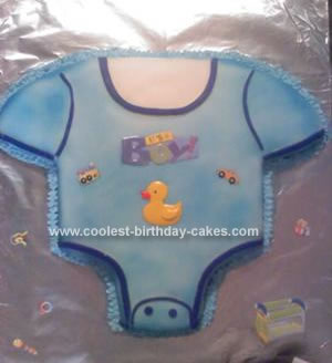 Homemade Onsie Baby Shower Cake