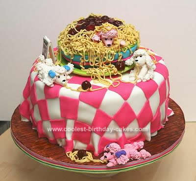 Swell Coolest Homemade Poodle Cakes Funny Birthday Cards Online Aeocydamsfinfo